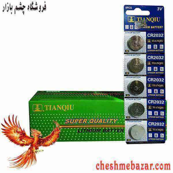 باتری سکه ای TIANQIU مدل CR2032 بسته 5 عددی